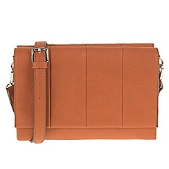 Parfois - Orange 'Reptil' plain cross bag