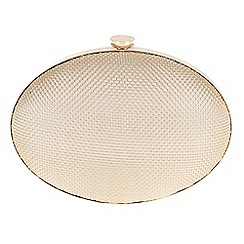 Parfois - Gold 'Oval' mesh clutch bag