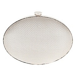 Parfois - Silver 'Oval' mesh clutch bag
