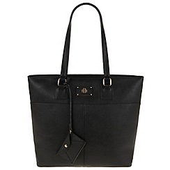 Parfois - Hand bag pvc plain a4 black