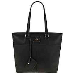 Parfois - Hand bag pvc plain a4 black