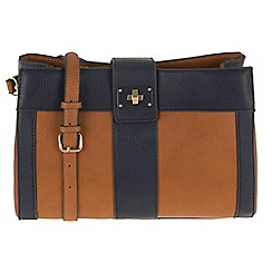 Parfois - Hand bag patchwork crossover navy