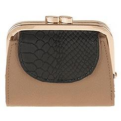 Parfois - Wallet coin purse pvc taupe