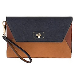 Parfois - Wallet multipurpose bag patchwork navy