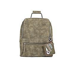 Parfois - Khaki stripy backpack
