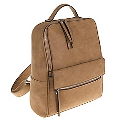 Parfois - Camel flaps backpack