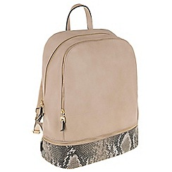 Parfois - Beige 'Kenia' backpack