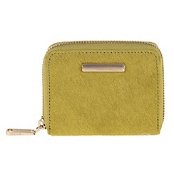 Parfois - Green fluffy wallet