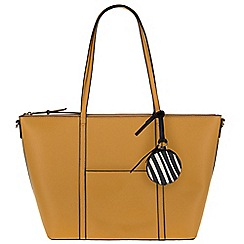 Parfois - Mustard 'Sharp' shopper