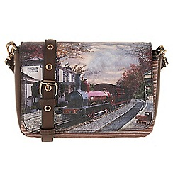 Parfois - Wine 'Train' cross bag