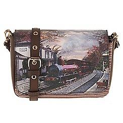 Parfois - Wine 'Train' cross bag