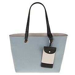 Parfois - Hand bag basic pu shopper blue