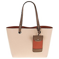 Parfois - Hand bag basic pu shopper ecru