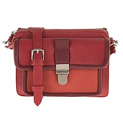 Parfois - Red comfortable rivets cross bag