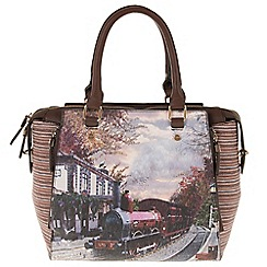 Parfois - Wine 'Train' tote