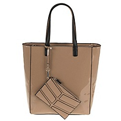 Parfois - Cream patina shopper