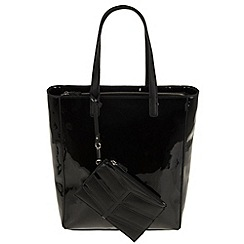 Parfois - Black patina shopper