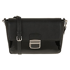 Parfois - Black patina cross bag