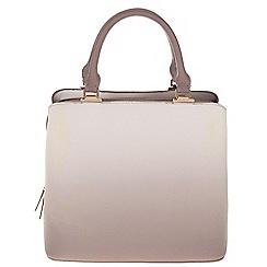 Parfois - Hand bag pvc plain bowling bag taupe