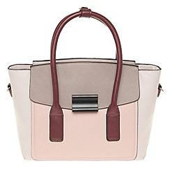 Parfois - Hand bag pvc plain bowling bag pink