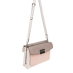 Parfois - Hand bag pvc plain crossover pink