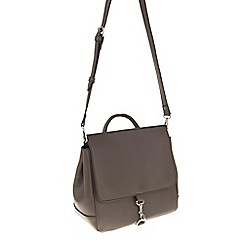 Parfois - Hand bag pvc plain knapsack brown