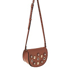 Parfois - Orange Natural eyelets cross bag