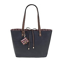 Parfois - Navy All in straw shopper