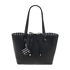 Parfois - Black All in straw shopper