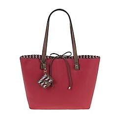 Parfois - Red All in straw shopper