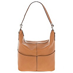 Parfois - Hand bag pvc plain shoppers camel