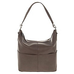 Parfois - Hand bag pvc plain shoppers brown