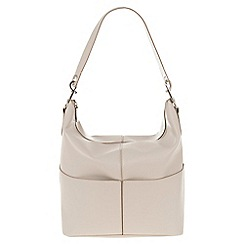 Parfois - Hand bag pvc plain shoppers taupe