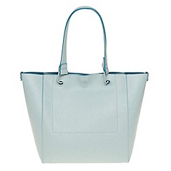 Parfois - Hand bag pvc plain shopper blue
