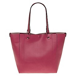 Parfois - Hand bag pvc plain shopper fuschia