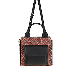Parfois - Hand bag plain fabric bowling bag orange