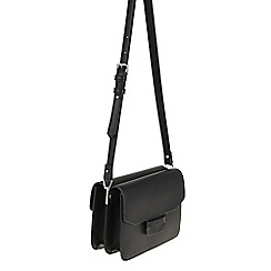 Parfois - Hand bag pvc plain crossover black