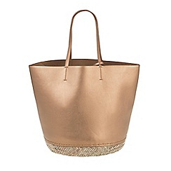 Parfois - Gold Hand bag shopper