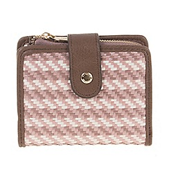 Parfois - Pink All in straw wallet