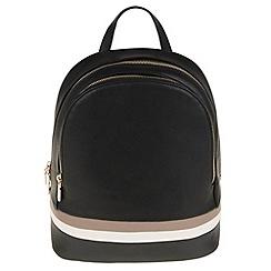 Parfois - Hand bag pvc plain knapsack black