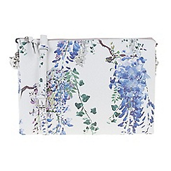 Parfois - Blue Garden of eden cross bag