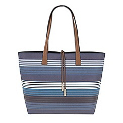 Parfois - Navy all in stripes shopper