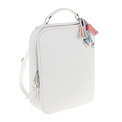 Parfois - White La mer briefcase