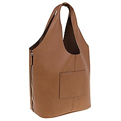 Parfois - Camel Hand bag pvc plain shopper