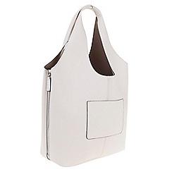 Parfois - Taupe Hand bag pvc plain shopper