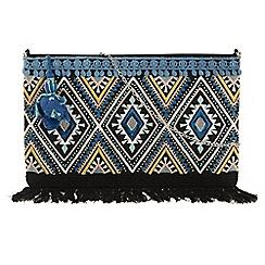 Parfois - Blue Pompom clutch