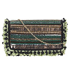 Parfois - Green Cherry clutch