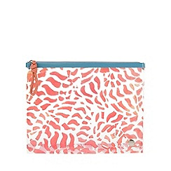 Parfois - Mid Rose Scuba cosmetic purse