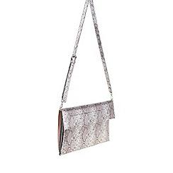 Parfois - Silver Roxy envelope clutch