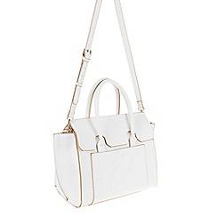 Parfois - White Hand bag pvc plain bowling bag
